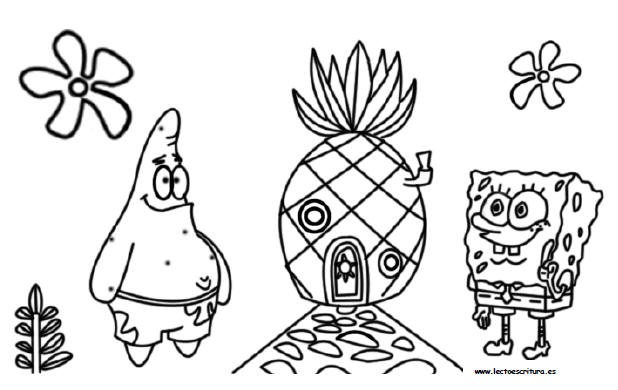 BOB-ESPONJA_PARA_COLOREAR_)59 - Dibujos para colorear