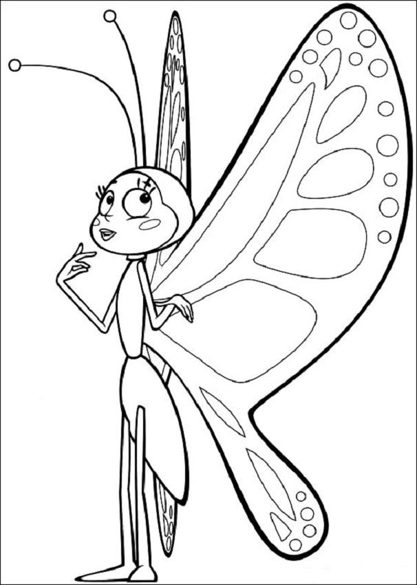 Beatriz para colorear, la abeja maya