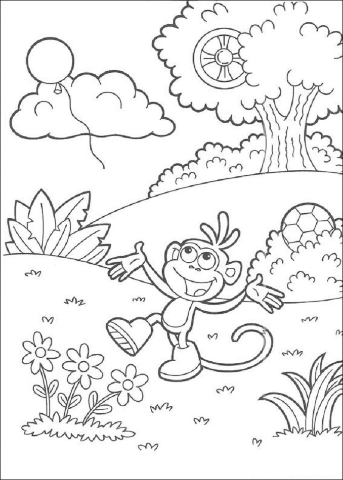 💠Dora la exploradora - Dibujos para colorear