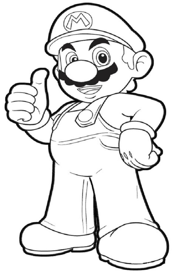 💠Super Mario Bros - Dibujos para colorear