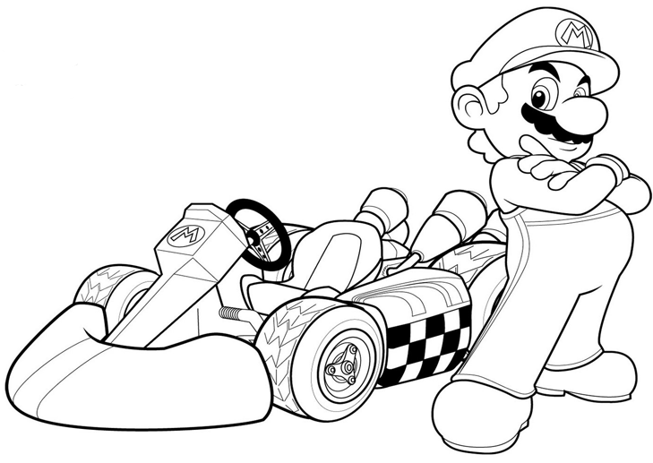 Dibujos Para Colorear De Mario Bros Y Luigi