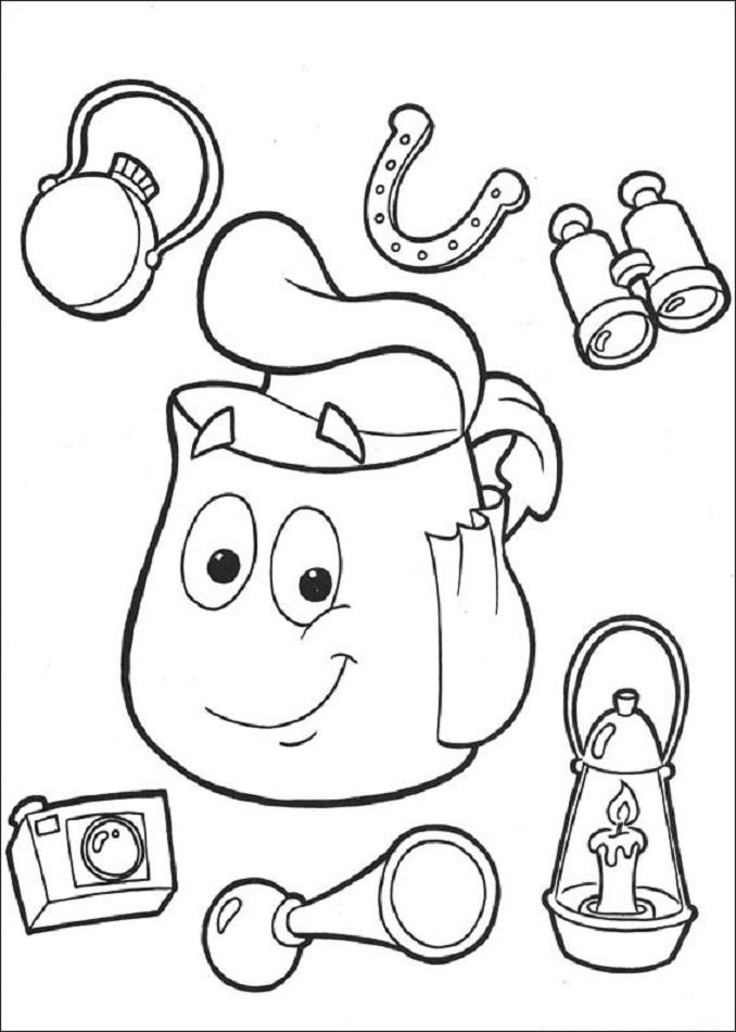 Mochila, Dora la exploradora El personaje de Mapa de Dora la Exploradora es uno de los personajes más entrañables que sale en cada capítulo, es quien ayuda a Dora a encontrar el camino ideal para llegar a su destino. El Mapa de Dora la Exploradora siempre va en su mochila.