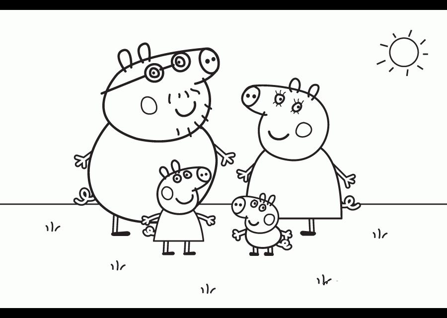💠Dibujos Peppa pig para imprimir y colorear - Dibujos para colorear