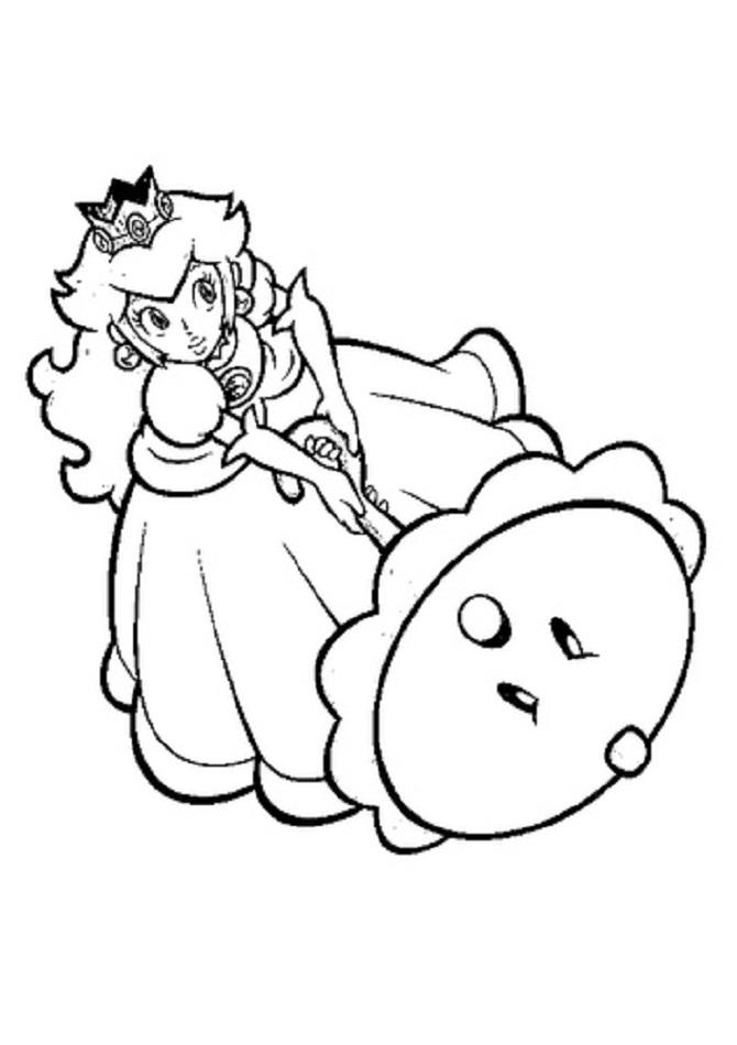 Princesa para colorear, Mario Bros