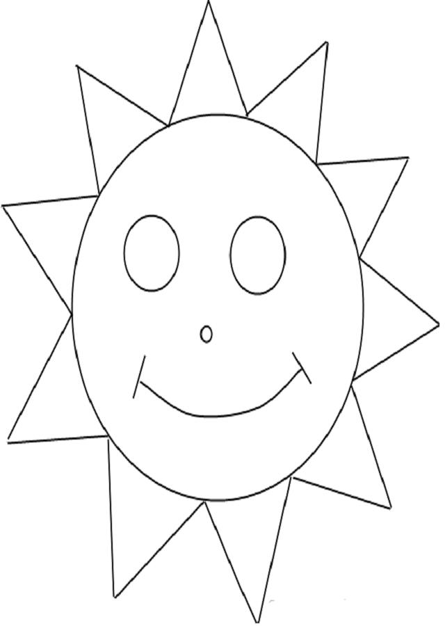 💠El Sol - Dibujos para colorear