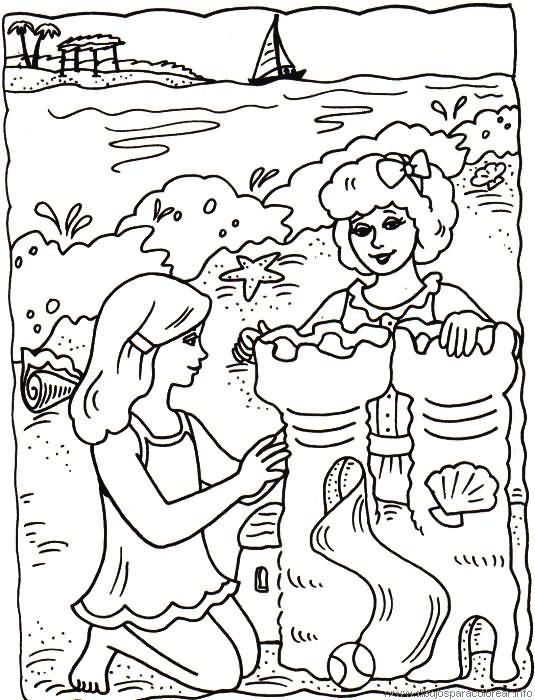 Verano - Dibujos para colorear