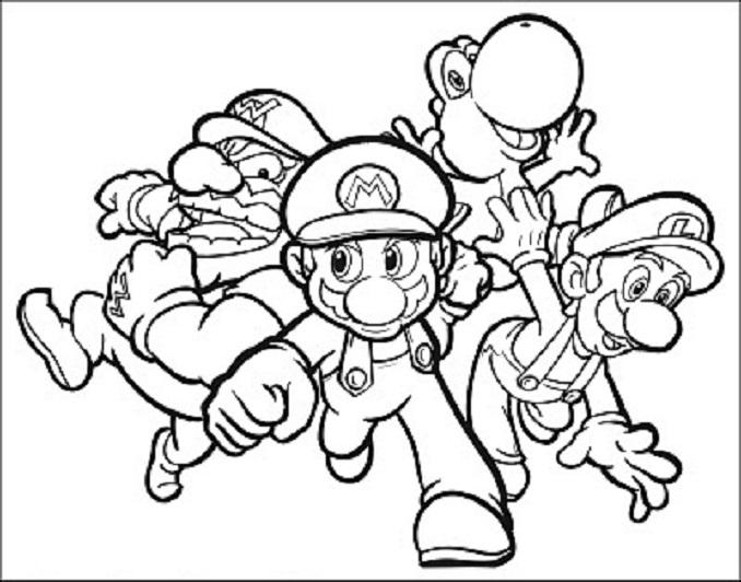 Warrio, Mario Bros, Yoshi y luigi