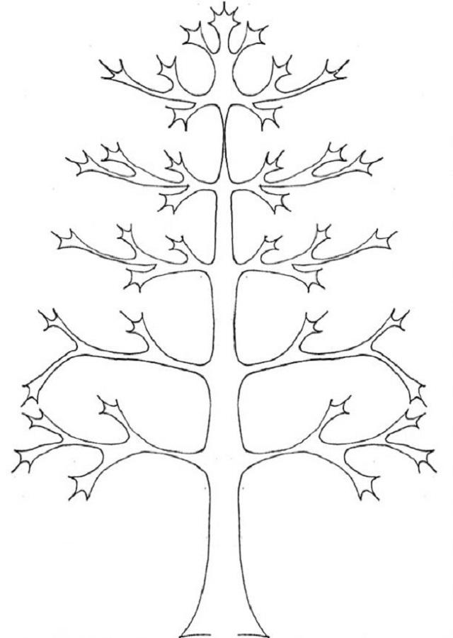 árbol otoño para pintar