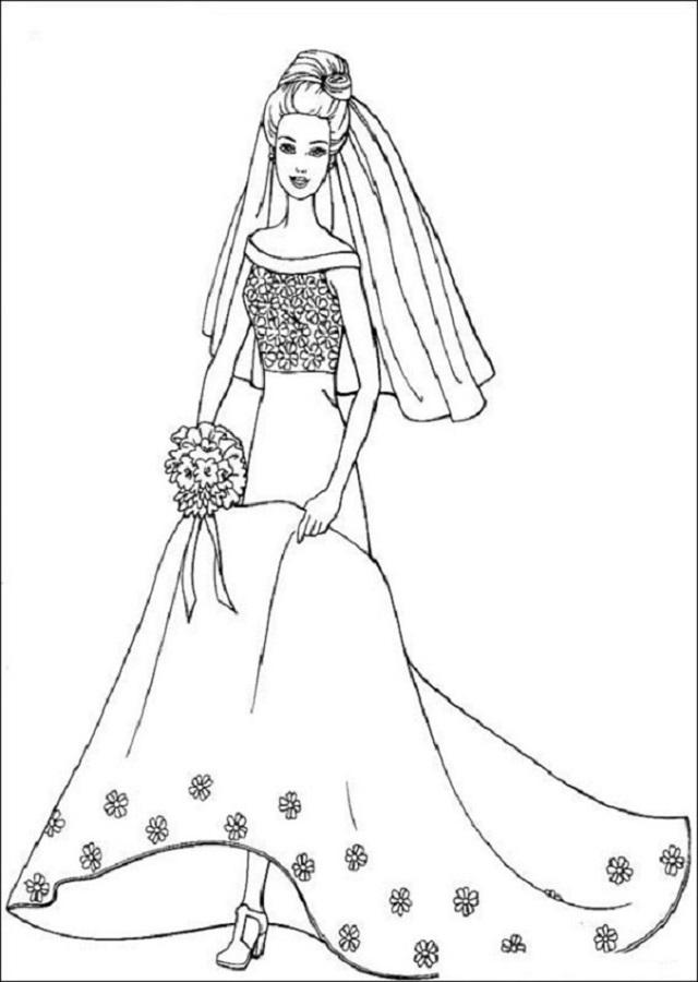 imagen pintar barbie novia