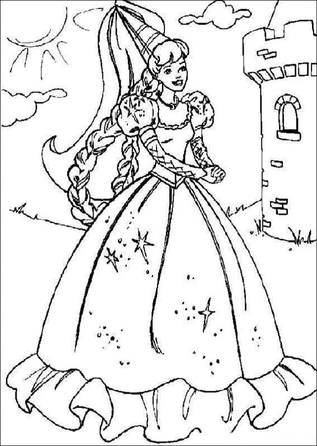 imagen para colorear princesa
