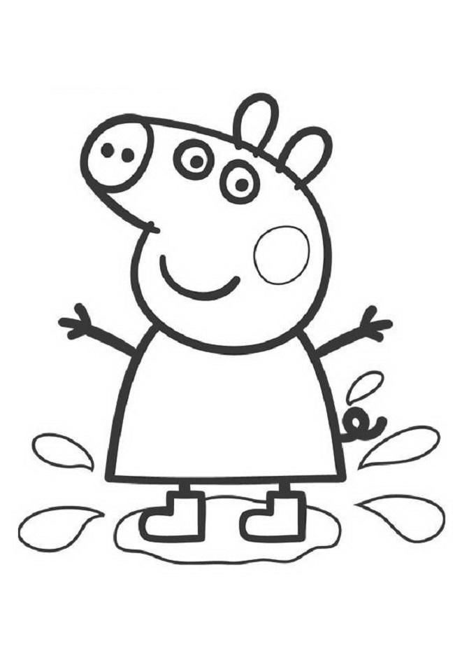 dibujo-para-colorear-de-peppa-pig-pisando-charco
