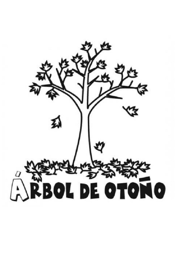 dibujos-arbol-en-otono-para-colorear - Dibujos para colorear