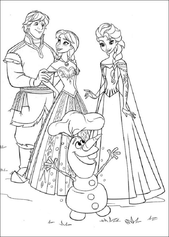 personajes de la pelicula Frozen