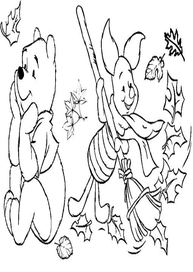 dibujos-otoño-disney - Dibujos para colorear
