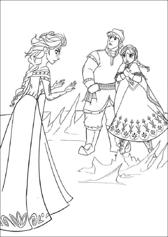 Elsa diciendole a su hemana que se vaya