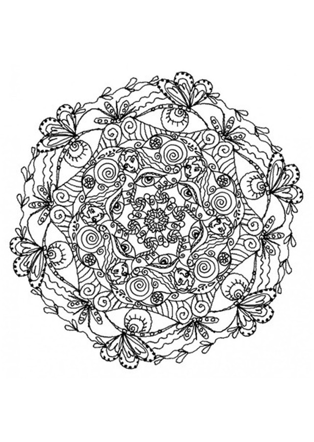 mandala-floral-para-adultos - Dibujos para colorear