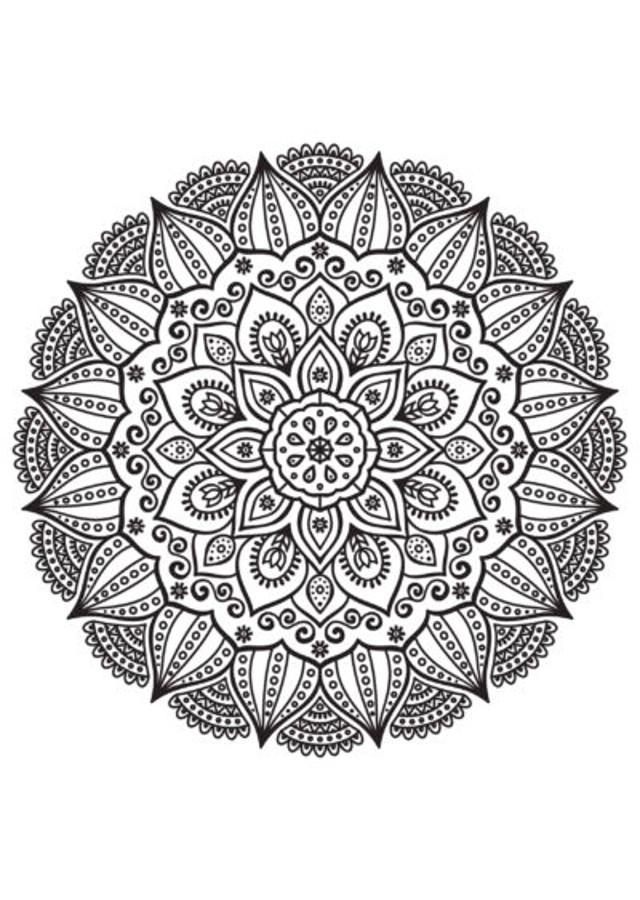 mandalas-para-colorear-dificiles-imprimir - Dibujos para colorear