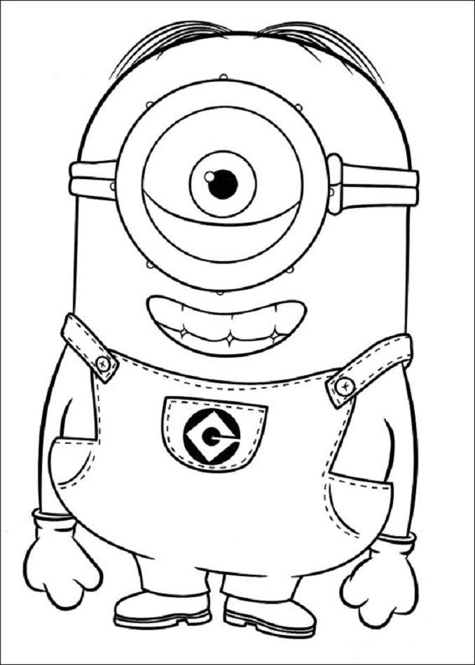 minions-Dave - Dibujos para colorear
