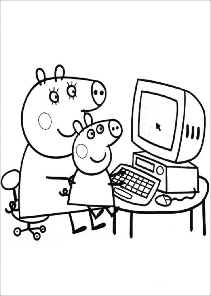 peppa-pig-con el ordenador