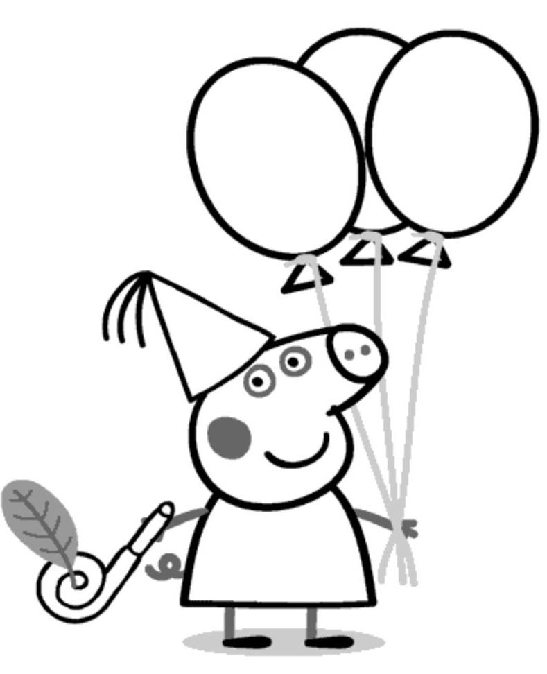 Dibujos Peppa pig para imprimir y colorear - Dibujos para colorear