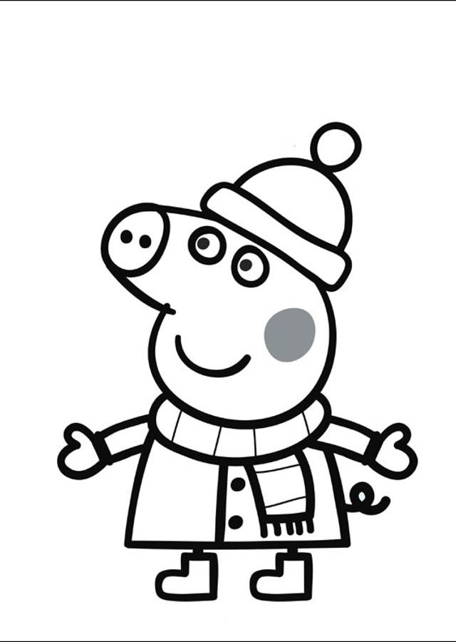 pintar-peppa-pig-en-invierno