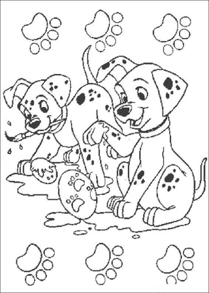 101 dalmatas, dibujos