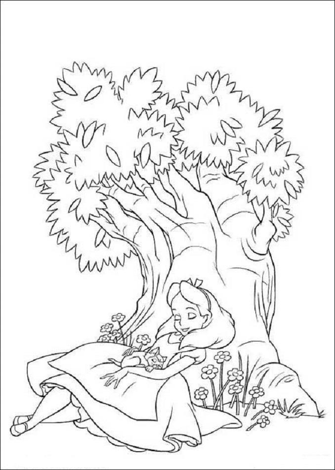 Alicia durmiendo - Dibujos para colorear
