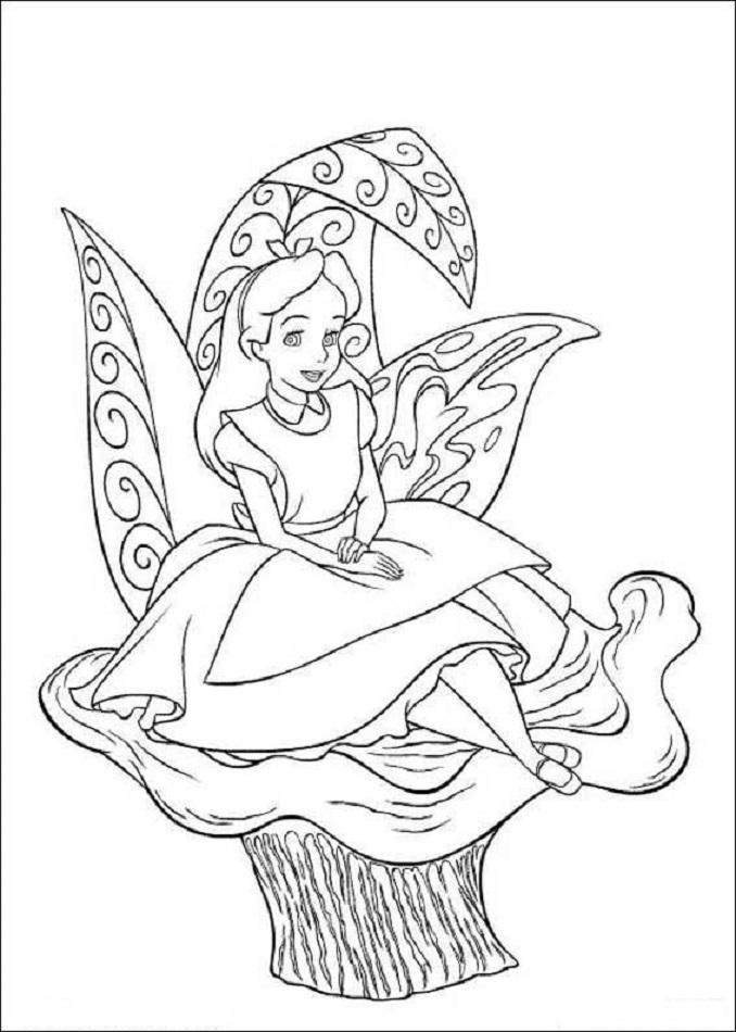 Bonito Alicia En El País De Las Maravillas Para Colorear Disney ...