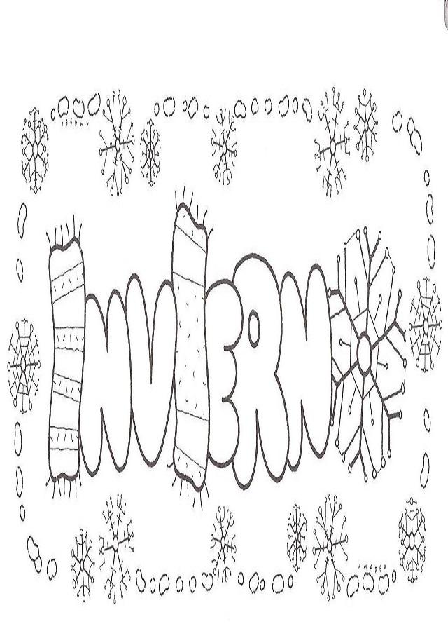 💠 Invierno - Dibujosparacolorear.eu