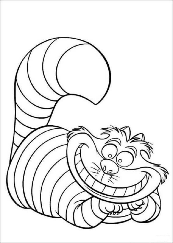 Gato de Cheshire - Dibujos para colorear