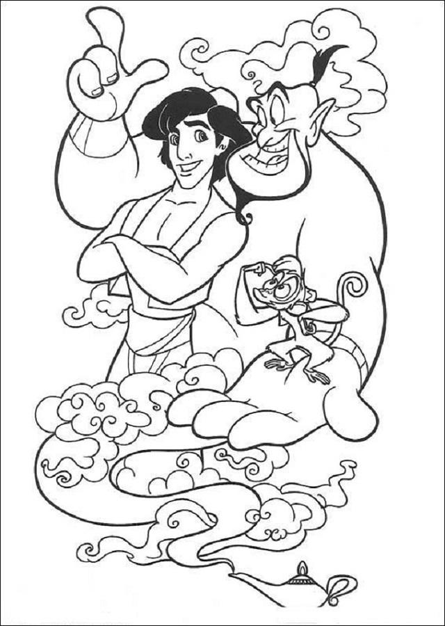 aladdin-y-el-genio - Dibujos para colorear