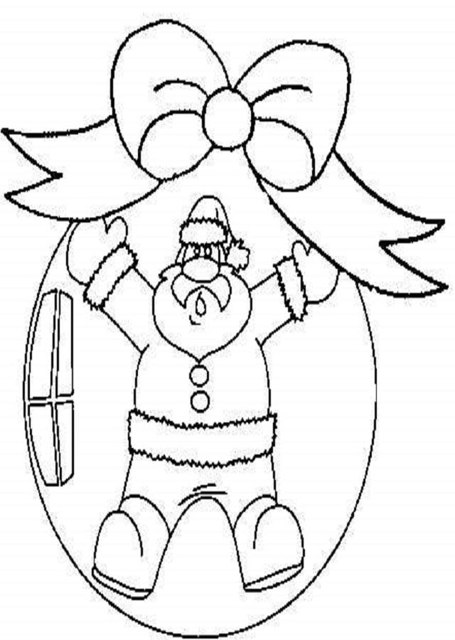 bola de navidad papa noel para pintar y colgar en el árbol