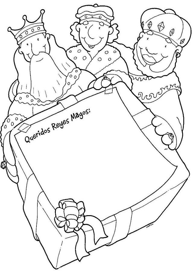 💠Carta reyes magos navidad - Dibujos para colorear