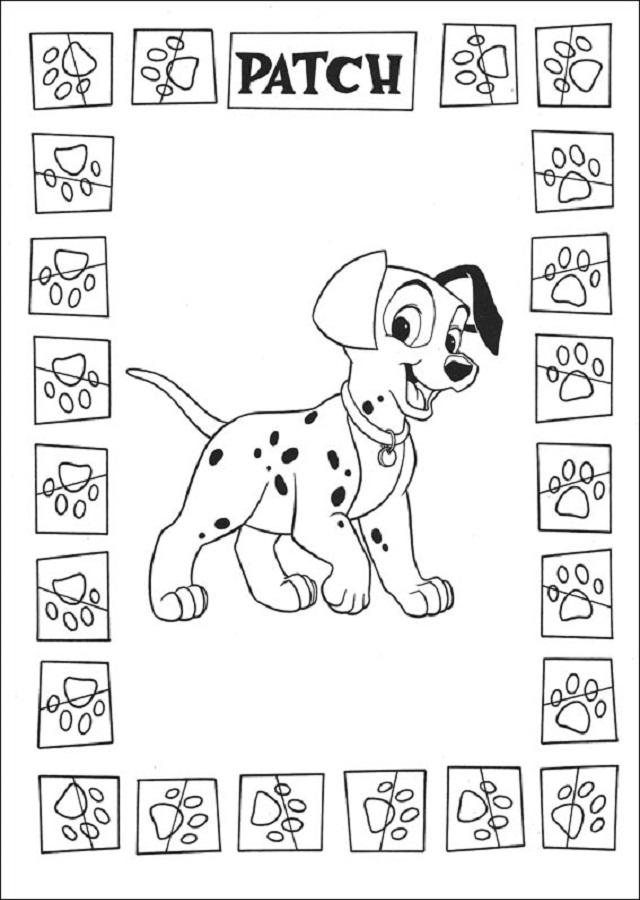 💠101 Dalmatas - Dibujos para colorear
