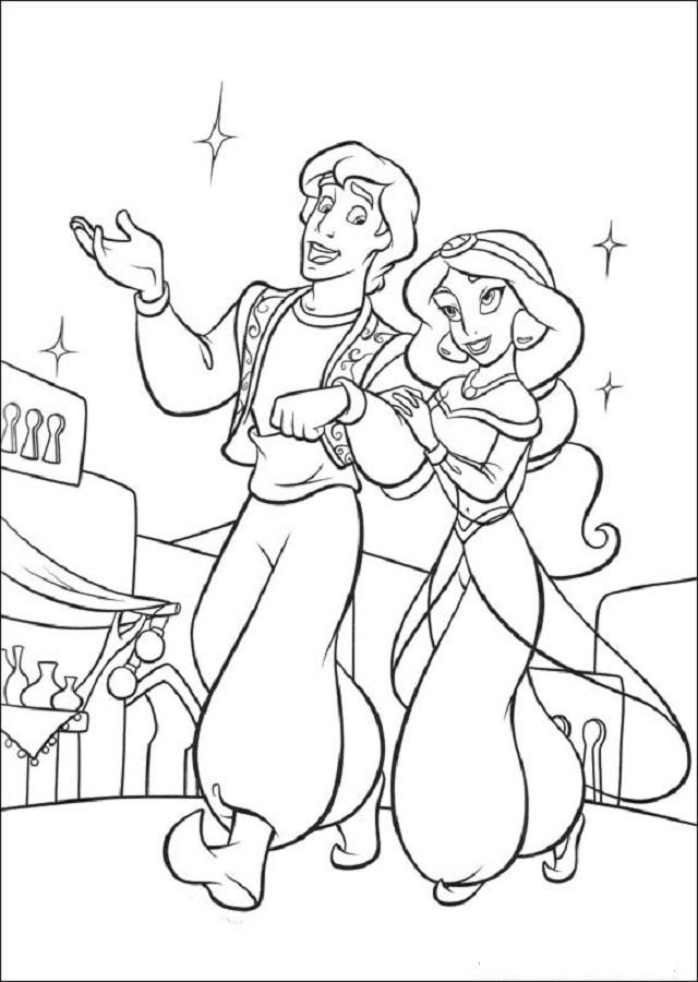 Excepcional Libro De Colorear Aladdin Galería - Dibujos Para ...