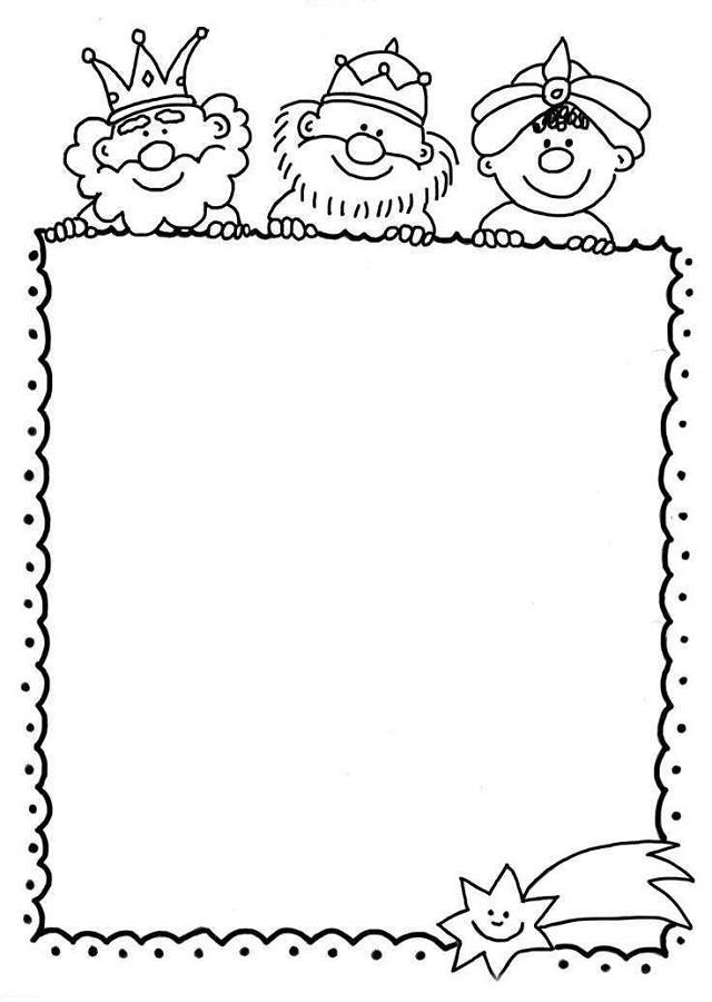 💠Carta reyes magos navidad   Dibujos para colorear
