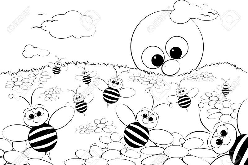 abejas en la primavera
