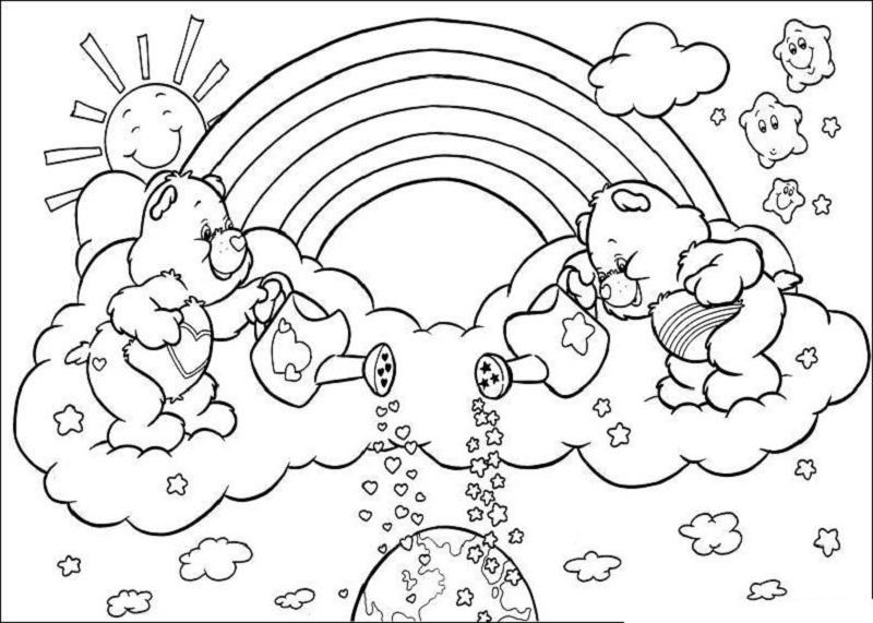 lluvia de amor en primavera - Dibujos para colorear