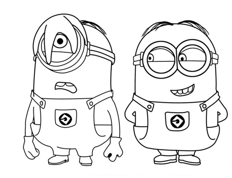 dibujos para colorear minion - Dibujos para colorear