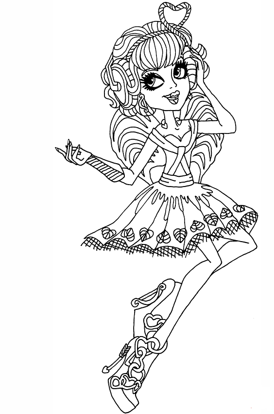 Monster high coloring pages spectra vondergeist