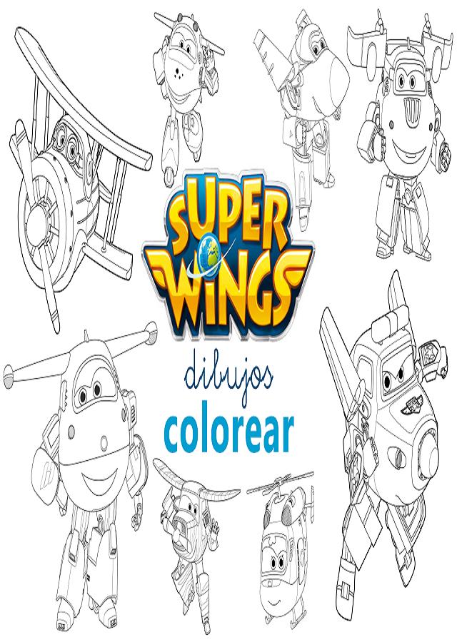 Super Wings Dibujosparacolorear Eu