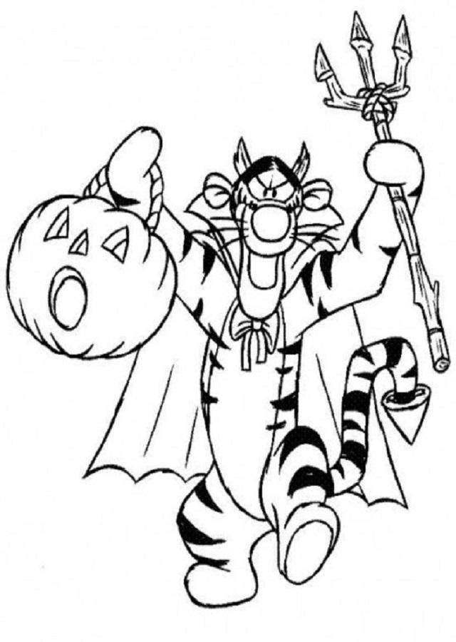 Dibujos-para-colorear-Disney-Junior-Tiger-en-Halloween