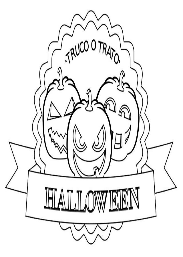 dibujo truco o trato halloween