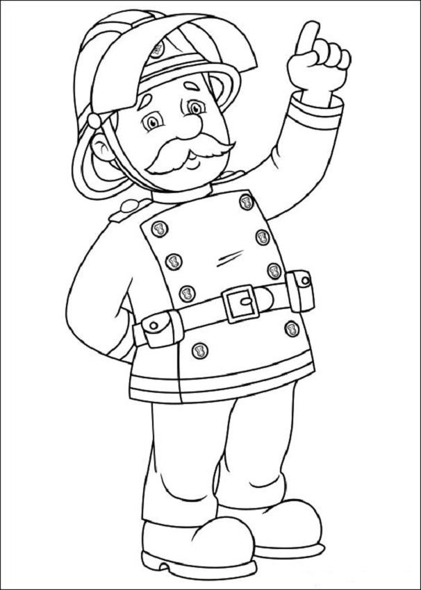 💠Sam el bombero - Dibujos para colorear