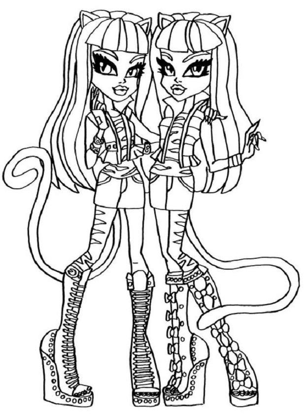 Meowlody y Purrsephone Monster High para colorear - Dibujos para ...