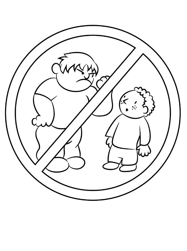 No Mas Bullying Dibujos Para Colorear