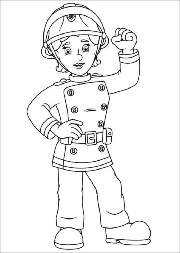 Penny Morris sam bombero - Dibujos para colorear
