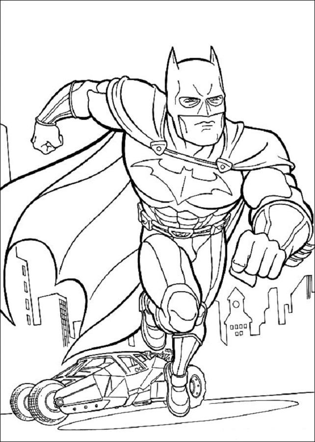 batman saliendo del batmovil - Dibujos para colorear