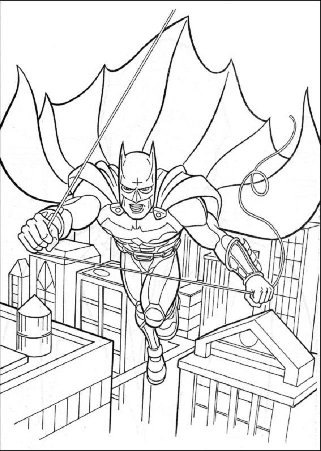 batman volando para imprimir - Dibujos para colorear