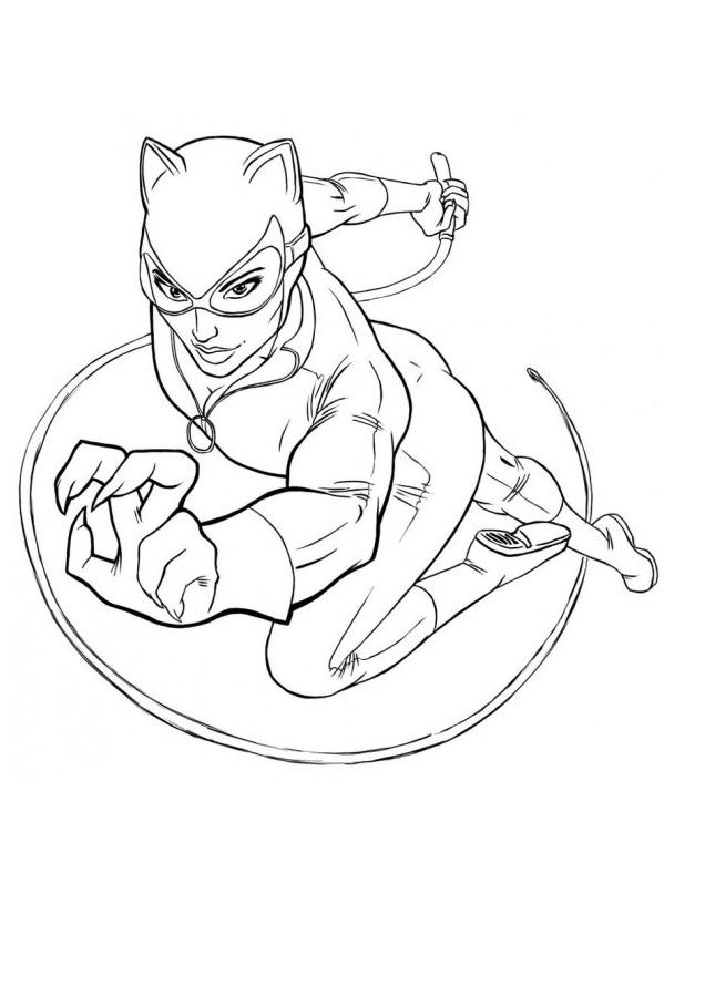 catwoman para colorear - Dibujos para colorear